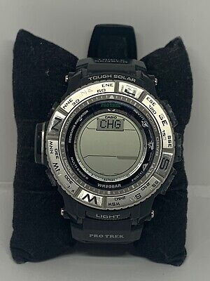 Casio Pro Trek PRW-3500 Unisex Black Silicone Digital Dial Quartz Watch NA175