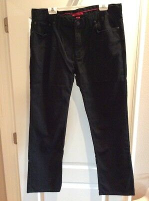 ALFANI MENS BLACK STRAIGHT LEG JEANS 36x30 NEW WITHOUT TAGS