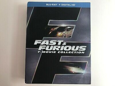 Fast & Furious 7-Movie Collection (Blu-ray) EXCELLENT CONDITION with Slipcover