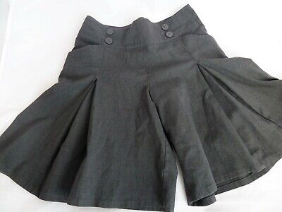 Girls Marks and Spencer grey school gym skirt shorts skorts, age 10 years