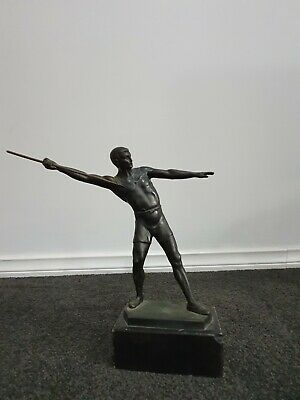 Javelin Thrower Statue Made From Spelter