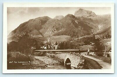 POSTCARD - Cumbria, Lake District, the Langdale Pikes, Abraham Series #163A