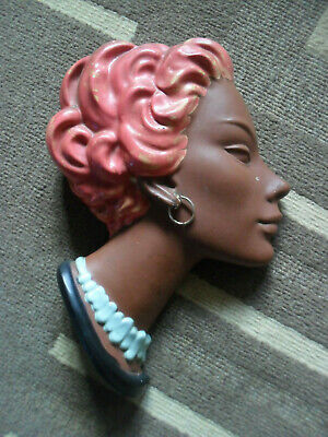 Wall Hanging,African Head Piece,1960S Art Deco Style,