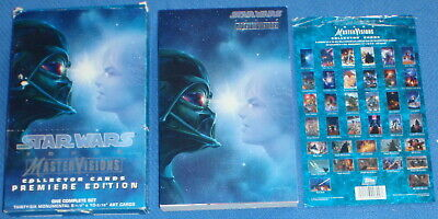 Star Wars : Master Visions Complete Set of 36 Over-sized Cards : TOPPS 1995.
