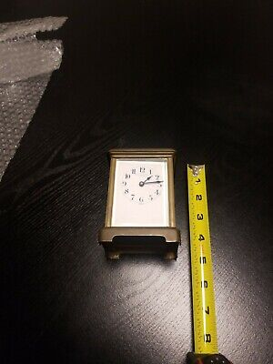 Genuine Antique French Brass & Beveled Glass H&H Cased Carriage Clock