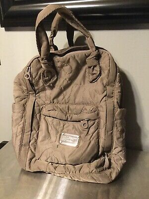 Marc By Marc Jacobs  Taupe Nylon Puffy Backpack