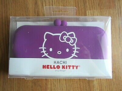 Hello Kitty Hachi Purple Wallet Bag Pouch Purse PVC Sanrio, NEW