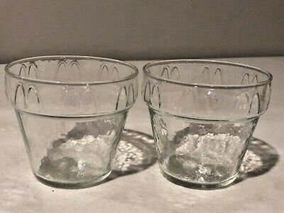 Vintage McDonald's Glass Ice Cream Sundae Dishes, Clear Glass, Set of 2