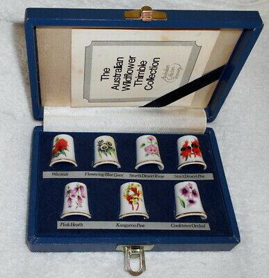 "Presentation box of ""The Australian Wildflower Thimble Collection"""