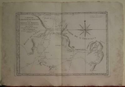 Bering Strait Norton Sound Alaska United States 1788 Bonne Unusual Antique Map
