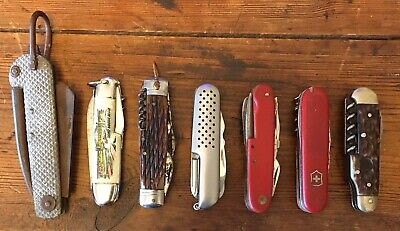 Vintage Pocket/Swiss Army Knives X 7 Jowika, Rostfrei ,Rodgers Sheffield,Bower