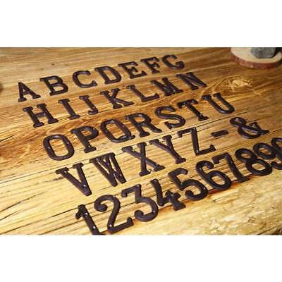 Hotsale! Cast Wrought Iron Black Antique House Door Alphabet Letters and Numbers