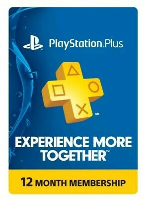 Sony PlayStation Plus 1 Year Membership, 12 Month PS4 Online Code E delivery