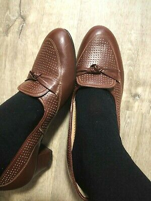 Exceptional & Chic! As New 'Doctor Raes Granny Shoes' Leather Upper & Sole 9 1/2