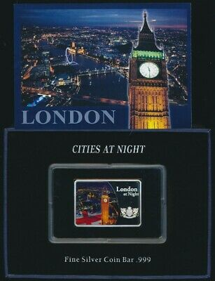 Fiji 2012 $10 .999 1oz Silver Proof Coin Cities At Night London