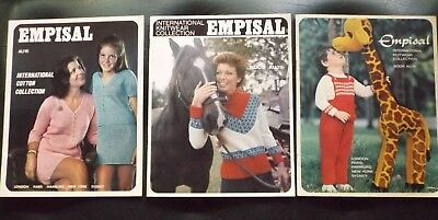 """3 """"Empisal"""" International Knitwear Collection Magazines  - Like New  I Will Post"""