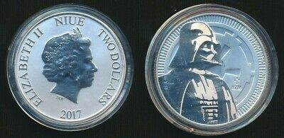 Niue 2017 $2 1oz .999 Silver Darth Vader housed its Capsule Only