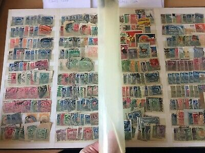 World stamp hoard much early Russia, Orange River Newfoundland on 2 full pages