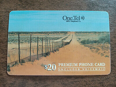 Used $20 One.Tel Rabbit Proof Fence Premium Phonecard