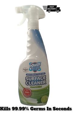 Antibacterial Sanitising Surface Cleaner Spray 750ml - Power Force Lime & Mint