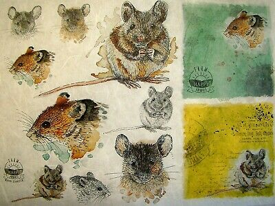 Rice Papers Decoupage Scrapbook and Craft Sheet Animals 702
