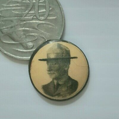 Lord Baden-Powell Vintage Badge Button Pin Scouts c.1935