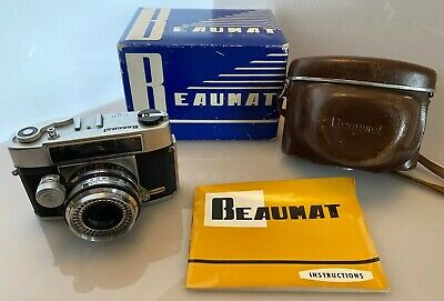 Very Rare Vintage Beaumat Beauty 35mm Rangefinder Camera Boxed & Great Condition