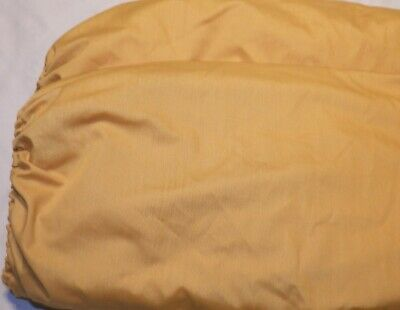 Two Fitted Cot Sheets-Antique Gold/Flax