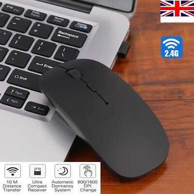 2.4GHz Wireless Cordless Mouse Mice USB Optical Scroll For PC Laptop Computer UK