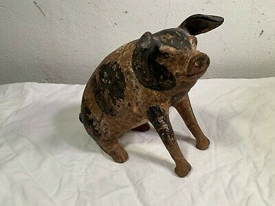 Antique Large Mexican or European Terracotta Pig Bank (Piggy Bank), 19th Century