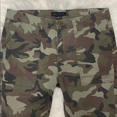Anthropologie Sanctuary Clothing Womens Porkchop Twill Chino Pants Camo 30 $99