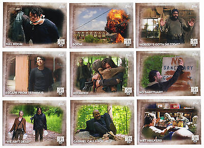 2016 Topps The Walking Dead Season 5 100 Trading Cards Base Set + Box + Wrappers