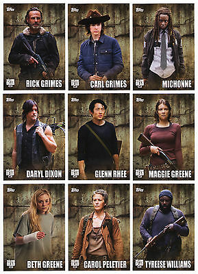 2016 Topps Walking Dead Season 5 135 Card Mini-Master Set with all 3 Chase Sets!
