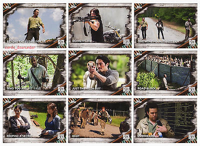 2017 TOPPS The Walking Dead Season 6 100 Trading Cards Base Set + Box + Wrappers