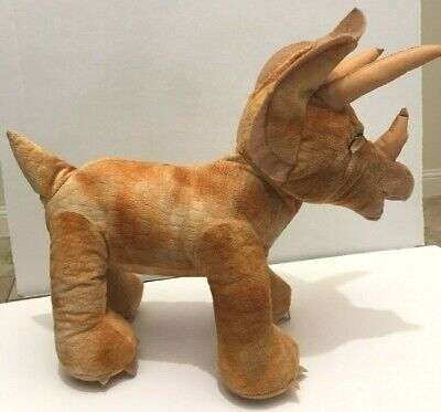 Build A Bear Triceratops Dinosaur Rust Color Standing Plush 16 inches BABW