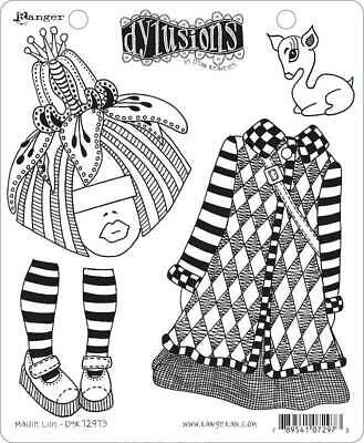 Ranger Dyan Reaveleys Dylusions Cling Stamp Collections 8.5X7-Elf Improvement Class