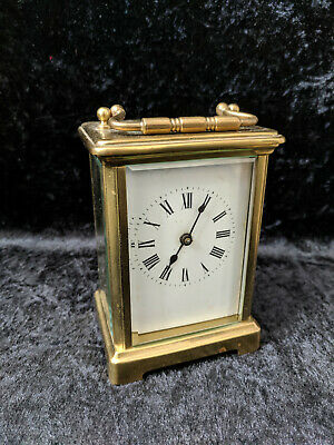 Vintage Brass Cased Carriage Clock Working
