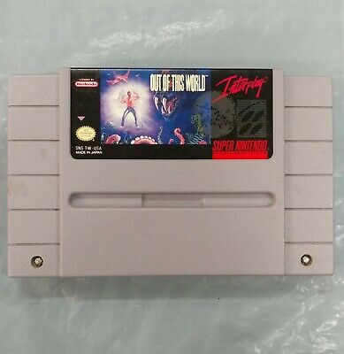 Out of This World - SNES - Super Nintendo Cartridge - Cleaned Tested -fast ship!