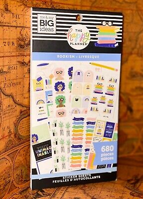 """NEW! me & my big ideas the happy Planner """"BOOKISH"""" Sticker Book - 680 Pieces"""