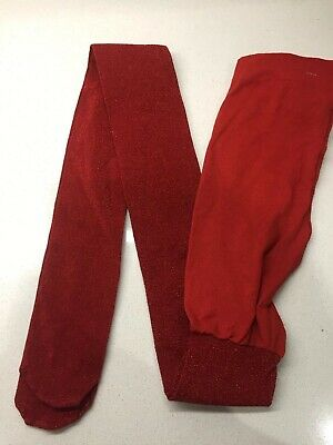 ***New NEXT Girls Tights  Red 11-12 Years New One