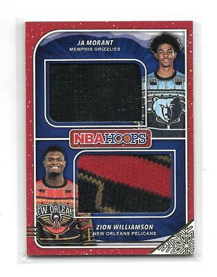 Zion Williamson Ja Morant 2019-20 NBA Hoops Dual Ugly Winter Sweater Relic Patch