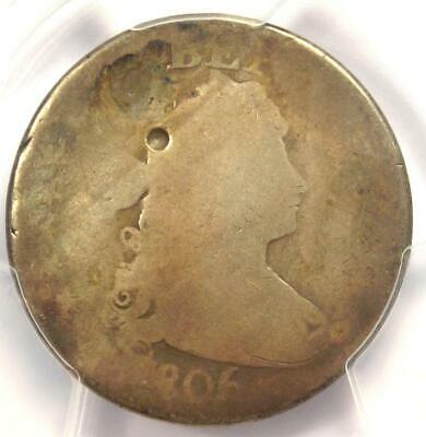 1806/5 Draped Bust Quarter 25C Coin - Certified PCGS AG Details - Rare Coin!