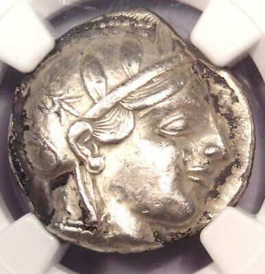 Ancient Athens Greece Athena Owl Tetradrachm Coin (440-404 BC) - NGC XF (EF)