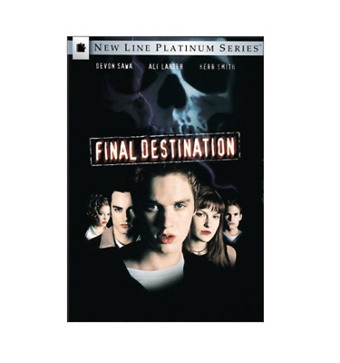 Final Destination DVD Authentic New Disc First Film in the Series Horror Genre