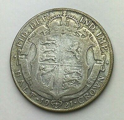 Dated : 1921 - Silver Coin - Half Crown - King George V - Great Britain