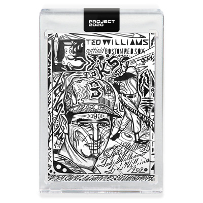 Topps PROJECT 2020 2 Card Bundle #9 Ted Williams & #10 Roberto Clemente Pre-Sell