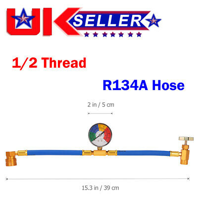 R134A Car Ac Air Conditioning Refrigerant Recharge Hose With Pressure Guage Tool