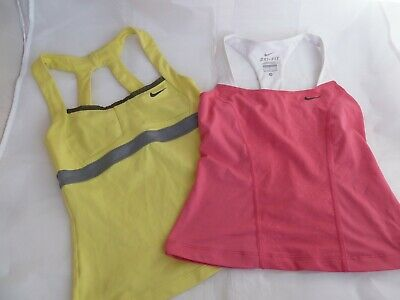 Tennis Girls bundle of 2 tops race back tank - Nike Dry Fit Size Small 8-10 yrs