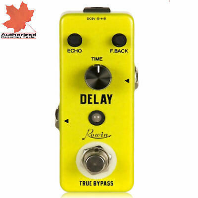 Rowin LEF-314 Delay Analog Vintage Echo Guitar Tone Effect Pedal True Bypass New