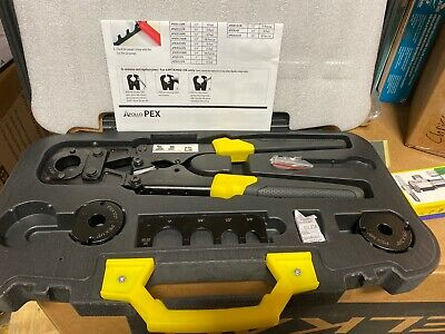 "Apollo Multi-Head PEX Crimp Tool Kit As Pictured NO 3/4"" Or Wrench"